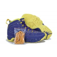 割引販売 Nike Air Jordan 9 Mens Purple Yellow Shoes