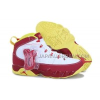 割引販売 Nike Air Jordan 9 Mens White Red Yellow Shoes