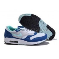 Nike Air Max 1 87 Mens White Blue 送料無料
