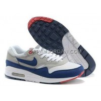 Nike Air Max 1 87 Mens White Grey Blue ホット販売