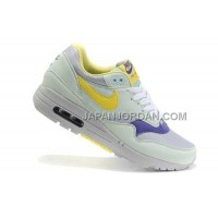 Nike Air Max 1 87 Womens Olive Yellow Blue 新着