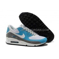 Nike Air Max 90 Hyperfuse Mens Fur Grey Blue White オンライン