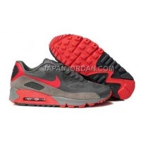Nike Air Max 90 Hyperfuse Mens Grey Red 本物の