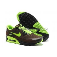 Nike Air Max 90 Hyperfuse PRM Mens S Brown Green 新着