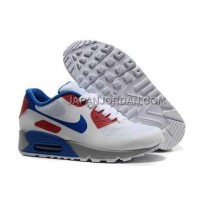 Nike Air Max 90 Hyperfuse Prm Womens White Blue Red 新着