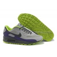 Nike Air Max 90 Hyperfuse Womens Grey Purple Grassgreen 送料無料
