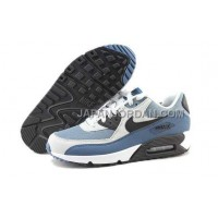 Nike Air Max 90 Mens Grey Black Blue 本物の