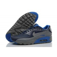 オンライン Nike Air Max 90 Mens Grey Blue