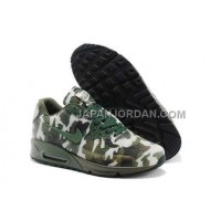 Nike Air Max 90 Mens HYP KPU TPU Camo Green White 本物の