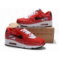 新着 Nike Air Max 90 Mens Red Black White