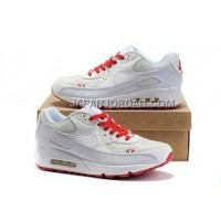 Nike Air Max 90 Mens White Almond Red オンライン