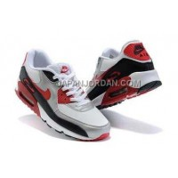 新着 Nike Air Max 90 Mens White Silver Red Black