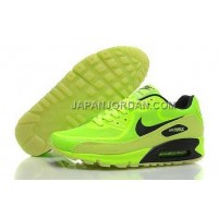 Nike Air Max 90 Prem Tape Mens Glowing Bling Green Black 本物の