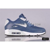 オンライン Nike Air Max 90 Premium EM Mens Light Blue White