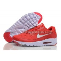 オンライン Nike Air Max 90 Premium Red Mens