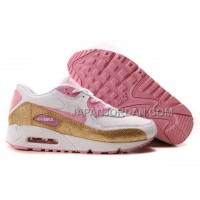 Nike Air Max 90 Womens Golden Pink White 送料無料