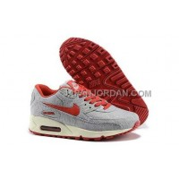 送料無料 Nike Air Max 90 Womens Grey Red