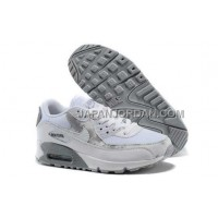 送料無料 Nike Air Max 90 Womens Light Grey White