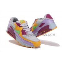 Nike Air Max 90 Womens Purple Deep Red Yellow White 送料無料