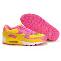 Nike Air Max 90 Womens Yellow Pink White Low 送料無料