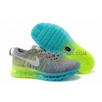 オンライン Nike Air Max Flyknit Mens Grey Green