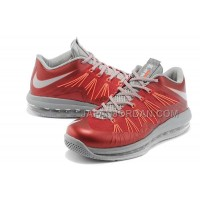 Nike Air Max Lebron X Low Mens Claret Gray オンライン