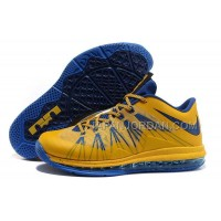 Nike Air Max Lebron X Low Mens Yellow Blue オンライン