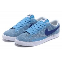 ホット販売 Nike Blazer 2013 Gypsophila Low Womens Blue Shoes