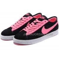 ホット販売 Nike Blazer 2013 Ultra-light Breathable Mesh Low Womens Pink Black Shoes