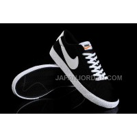 ホット販売 Nike Blazer Fur Low Womens Black White Shoes