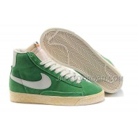 本物の Nike Blazer High Anti-Fur Mens Green White Shoes