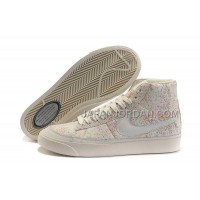 Nike Blazer High Leather Womens Honeysuckle White Shoes 格安特別