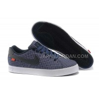Nike Blazer Low 1972 Canvas Grid Womens Dark Blue Black Shoes 格安特別