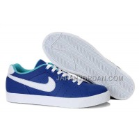 Nike Blazer Low 1972 Leather Mens Blue White Shoes 格安特別