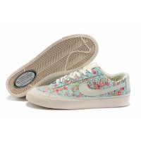 Nike Blazer Low 3s Casual Womens Blue Floral Shoes 格安特別