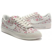 Nike Blazer Low 3s Casual Womens White Red Azaleas Shoes 格安特別