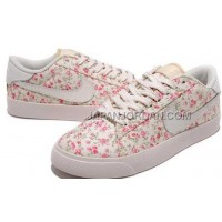 Nike Blazer Low 3sCasual Womens White Plum Flower Shoes 格安特別