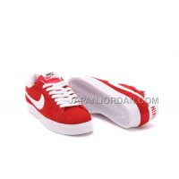 本物の Nike Blazer Low Anti-Fur Mens 2013 New Red White Shoes