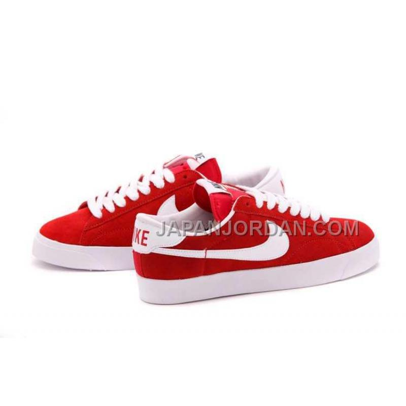 online store 373fa 71989 ... 本物の Nike Blazer Low Anti-Fur Mens 2013 New Red White Shoes ...