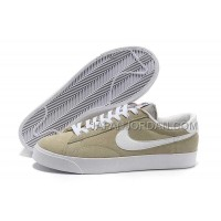 本物の Nike Blazer Low Anti-Fur Mens 3s Beige Shoes
