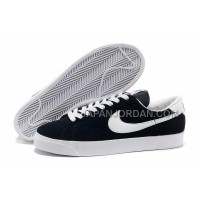 本物の Nike Blazer Low Anti-Fur Mens 3s Black Shoes