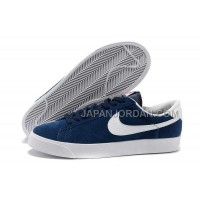 本物の Nike Blazer Low Anti-Fur Mens 3s Dark Blue Shoes