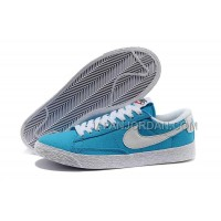 Nike Blazer Low Canvas Classic Womens Blue Shoes 格安特別