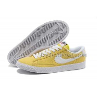Nike Blazer Low Canvas Classic Womens Bright Yellow Shoes 格安特別