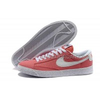 Nike Blazer Low Canvas Classic Womens Orange Red Shoes 格安特別