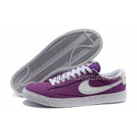 Nike Blazer Low Canvas Classic Womens Purple Shoes 格安特別