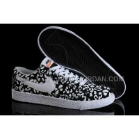 Nike Blazer Low Mens In Black White Leopard Shoes 格安特別