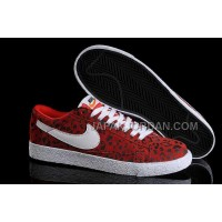 Nike Blazer Low Mens In Red Black Leopard Shoes 格安特別