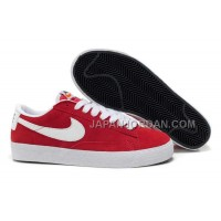 Nike Blazer Low Premium Retro Womens Red White Shoes 割引販売