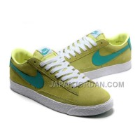 Nike Blazer Low Premium Vintage Suede Womens Green Shoes 割引販売